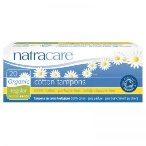 Organic cotton tampons for regular flow by natracare