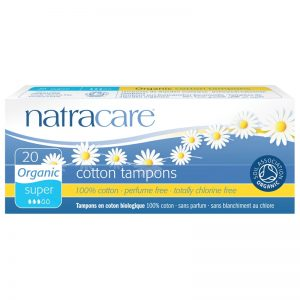 Organic cotton tampons for heavy flow by natracare