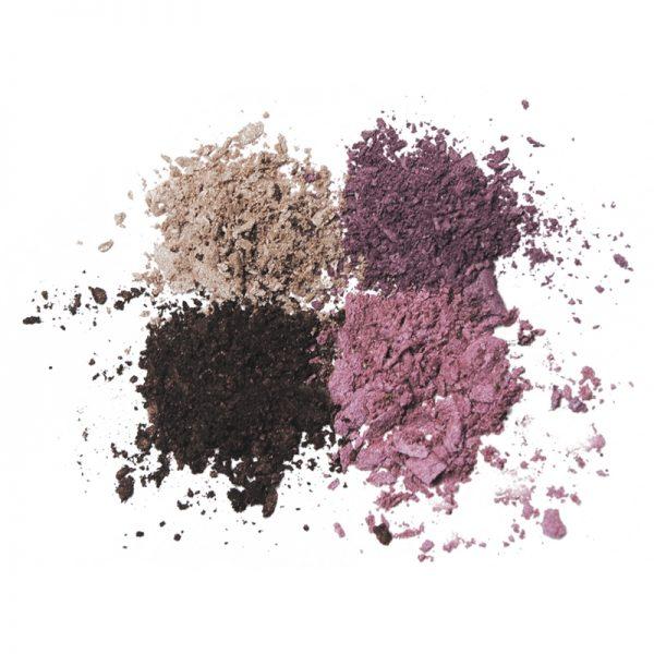 Vegan Natural eyeshadow set. Colour - purple & brown by benecos.