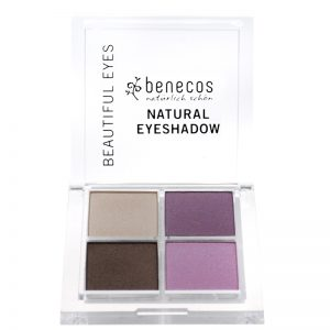 Vegan Natural eyeshadow set. Colour - purple & brown by benecos