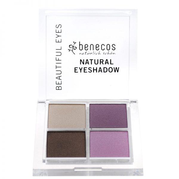 Vegan Natural eyeshadow set. Colour - purple & brown by benecos