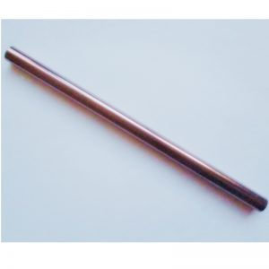 Stainless steel copper coloured eco friendly plastic free smoothie straw