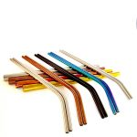 Coloured metal straws