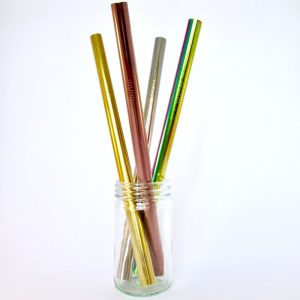 Metal smoothie straws