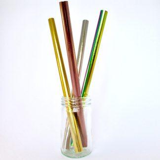 Metal smoothie straws