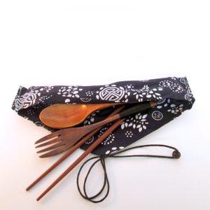 bamboo cutlery travel set with chopsticks