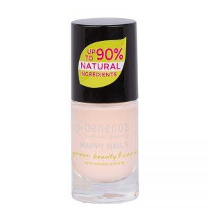 Baby pink vegan natural nail polish by benecos