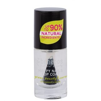 Clear top coat & base coat vegan natural nail polish by benecos