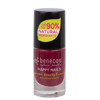 Burgundy vegan natural nail polish by benecos