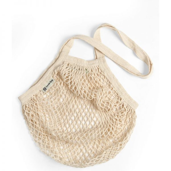 Organic cotton string bags bottle natural by turtle bags