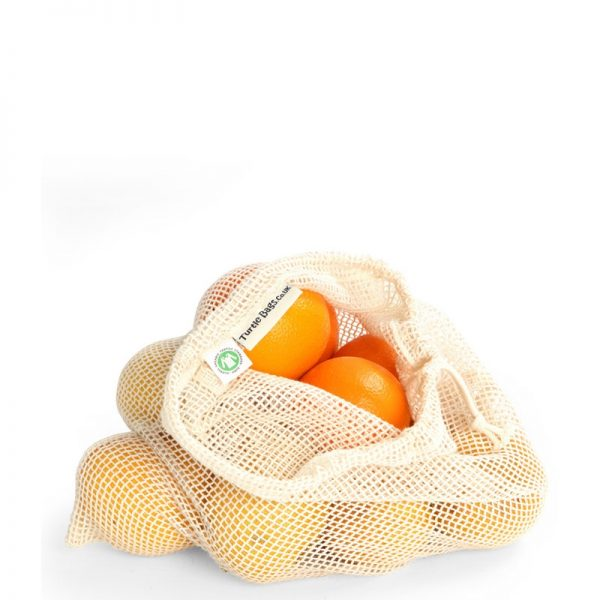Large organic cotton produce bag by turtle bag