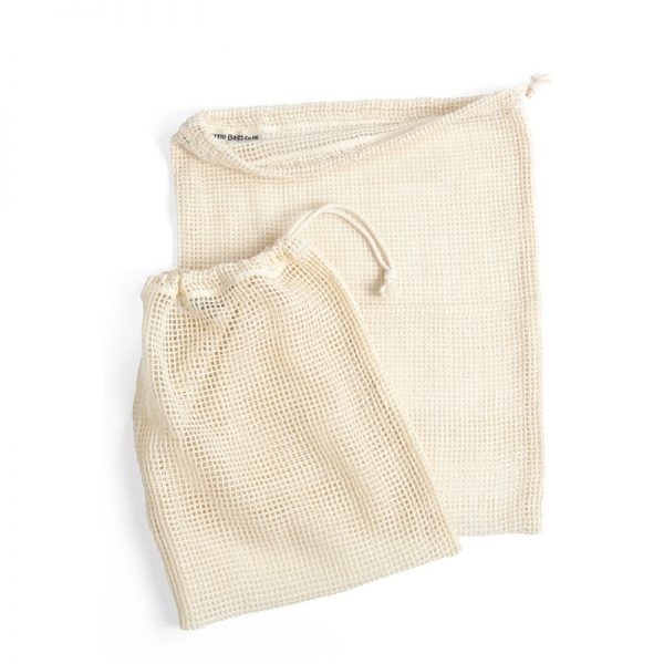 Large and Small organic cotton produce bags set by turtle bag