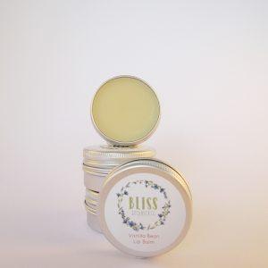 Natural Vegan Lip Balms by Bliss Botanicals. Vanilla Bean Flavour