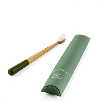Bamboo Toothbrush with Green Handle by Truthbrush