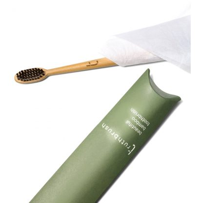 Bamboo Toothbrush with Black Bristles by Truthbrush