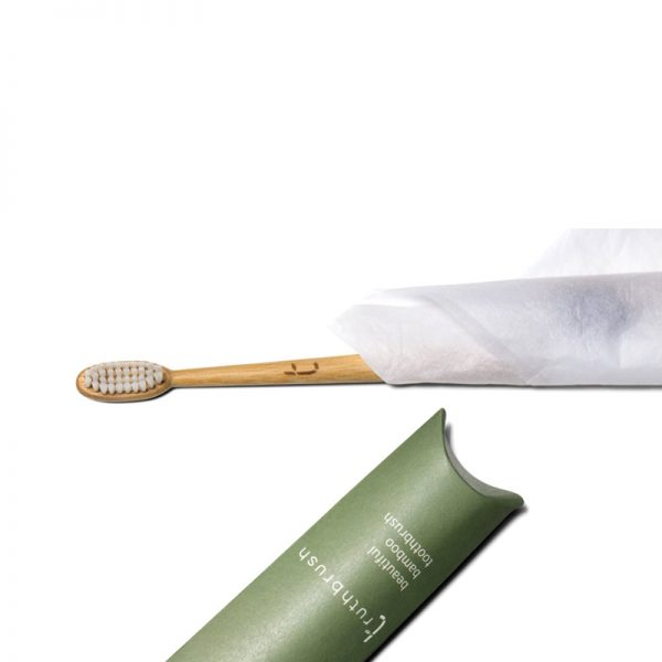 Bamboo Toothbrush with White Bristles by Truthbrush