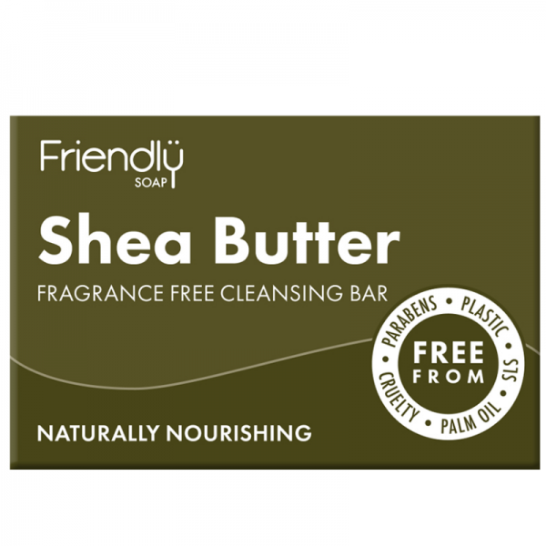 Natural vegan Shea butter facial cleansing soap bar