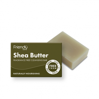Natural vegan Shea butter facial cleansing soap bar