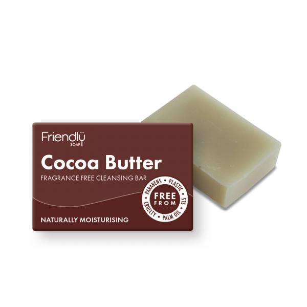 Natural vegan cocoa butter facial cleansing soap bar