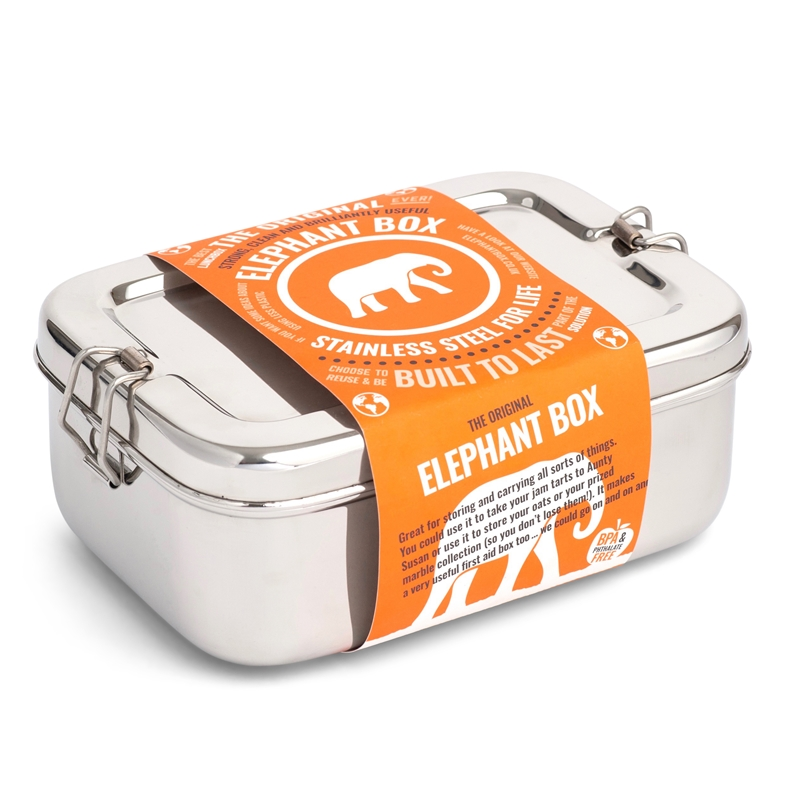 Stainless steel lunchbox by Elephant Box