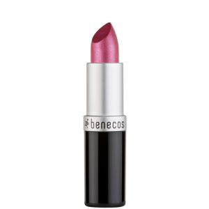 Natural lipstick by benecos. Hot pink colour.