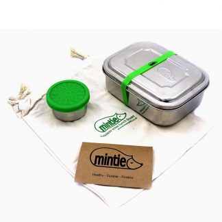 Stainless Steel lunchbox in cotton bag by Mintie