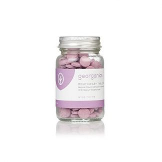 Natural plastic free mouthwash tablets by georganics. Wild Thyme Flavour.