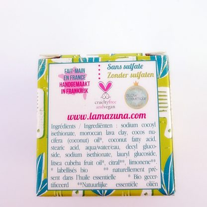 Natural plastic free palm oil free shampoo for greasy hair by lamazuna