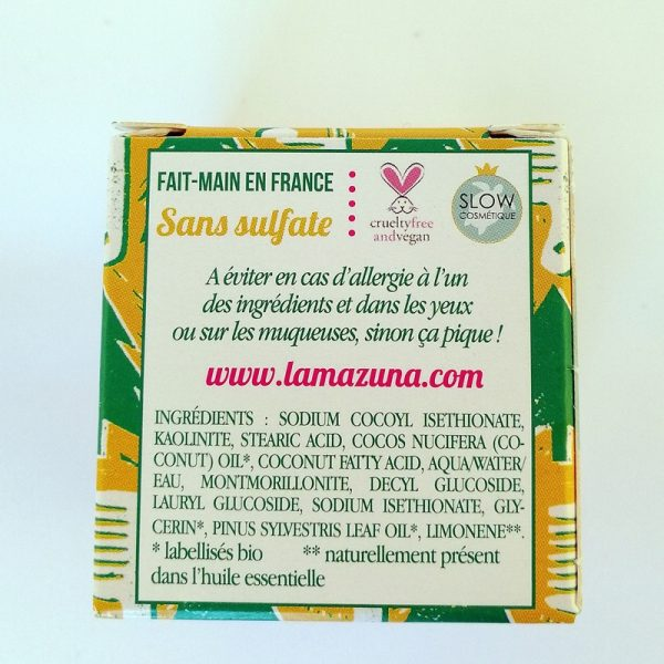 Natural plastic free palm oil free shampoo for normal hair by lamazuna