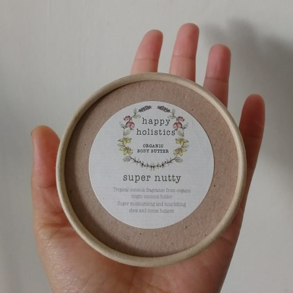Natural plastic free body moisturiser, super nutty, by Happy Holistics.