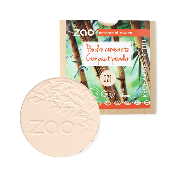 Natural Compact Powder Refill by Zao, Ivory Colour