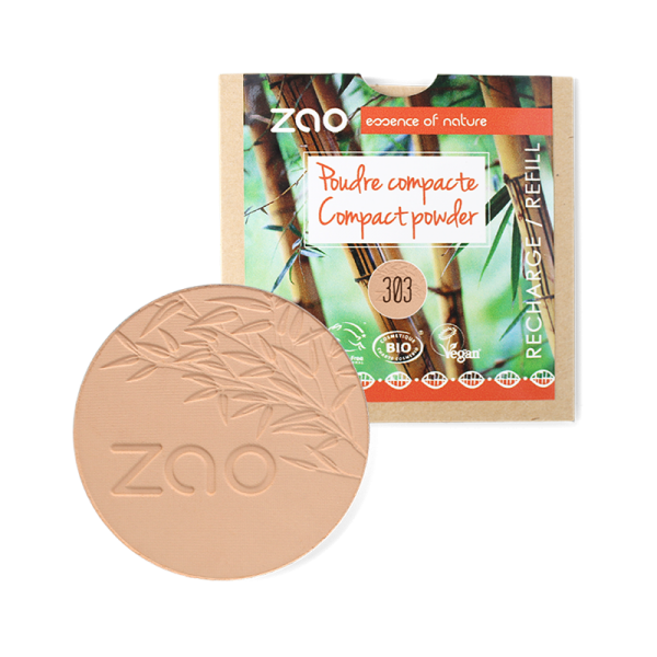 Natural Compact Powder Refill by Zao, Brown Beige Colour