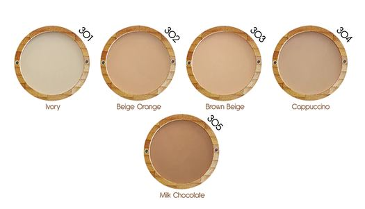 Natural Compact Powder colours by Zao