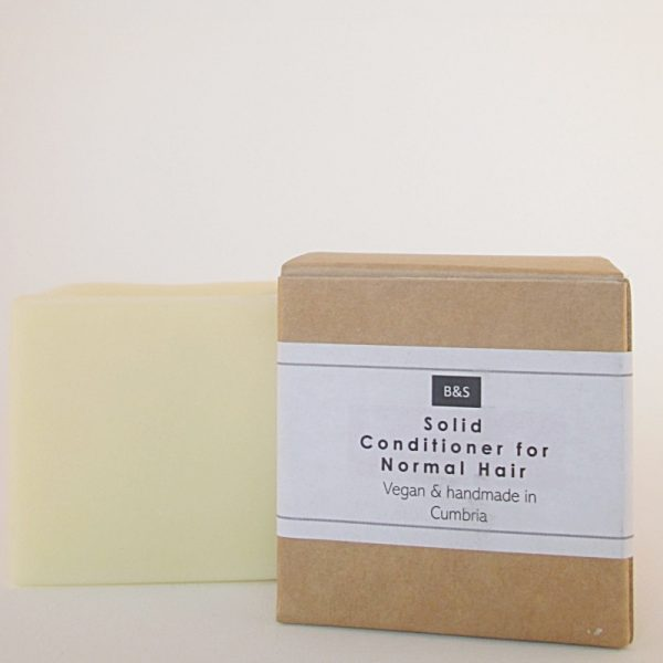 Natural plastic free solid conditioner bar by Bain and Savon for Normal Hair
