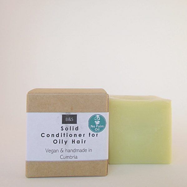 Natural plastic free solid conditioner bar by Bain and Savon for Oily Hair