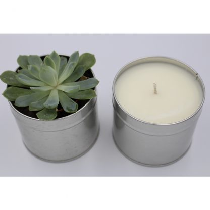 Natural Candle in a tin by Handmade in Harpenden