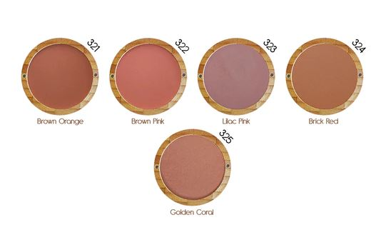 Natural Blusher Powder colours by Zao