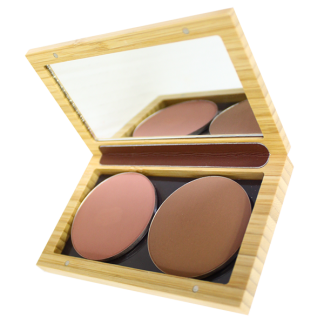 Reusable compact make up case by Zao. Make up palette