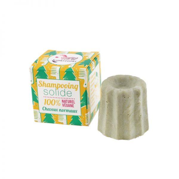 Natural Vegan Shampoo Bar for Normal Hair by Lamazuna. Scots Pine Scent.
