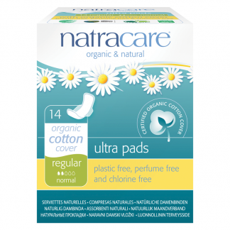 Organic Cotton Sanitary Pads with Wings, Regular by natracare