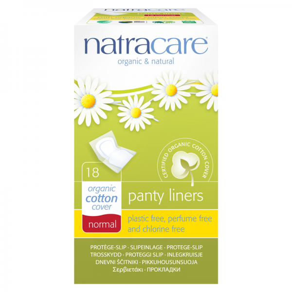 Organic Cotton Panty Liners, wrapped, by natracare.