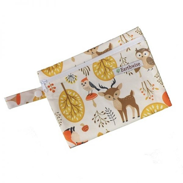 Waterproof Bag for storing sanitary pads with Woodland fabric