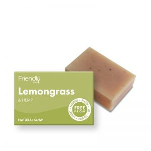 Natural Vegan Lemongrass and Hemp Bar of Soap by Friendly