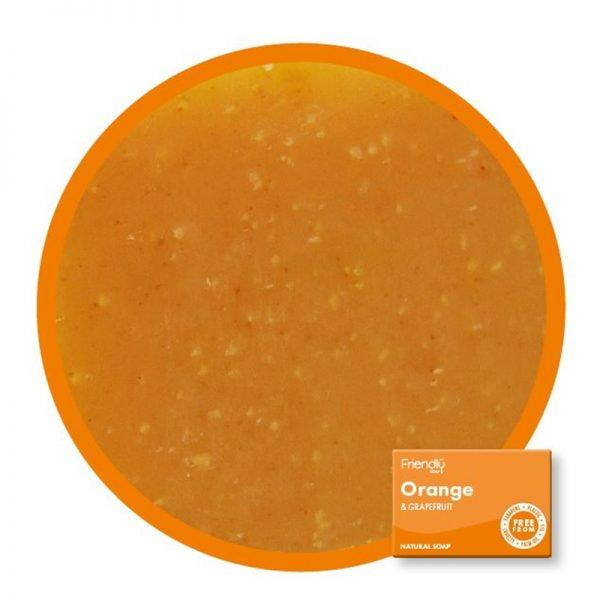 Natural Vegan Orange and Grapefruit Bar of Soap by Friendly