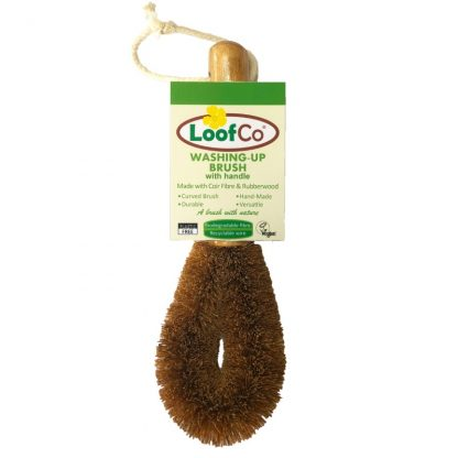 Eco Friendly Plastic Free Dish Brush made from coconut fibres by LoofCo