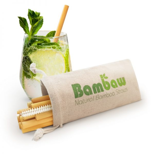 Reusable eco-friendly bamboo straws
