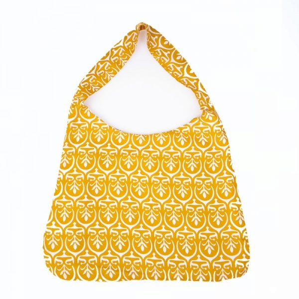 Eco friendly shoulder bag made from recycled saris