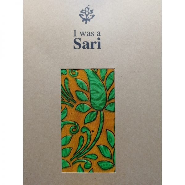 Eco friendly yoga mat carrier made from recycled saris