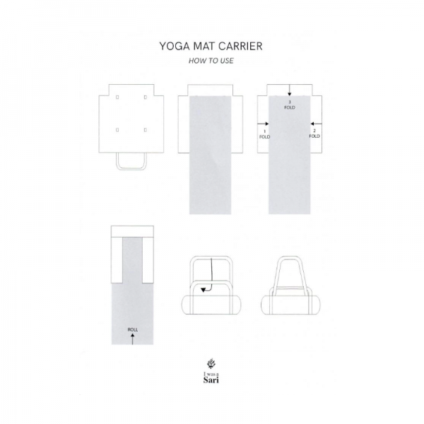 Eco friendly yoga mat carrier instructions