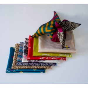 Reusable eco friendly gift wrap made from recycled saris